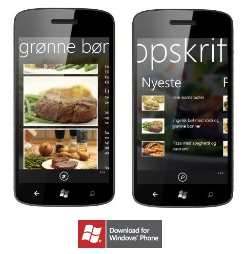 Madopskrifter.nu til Windows Phone